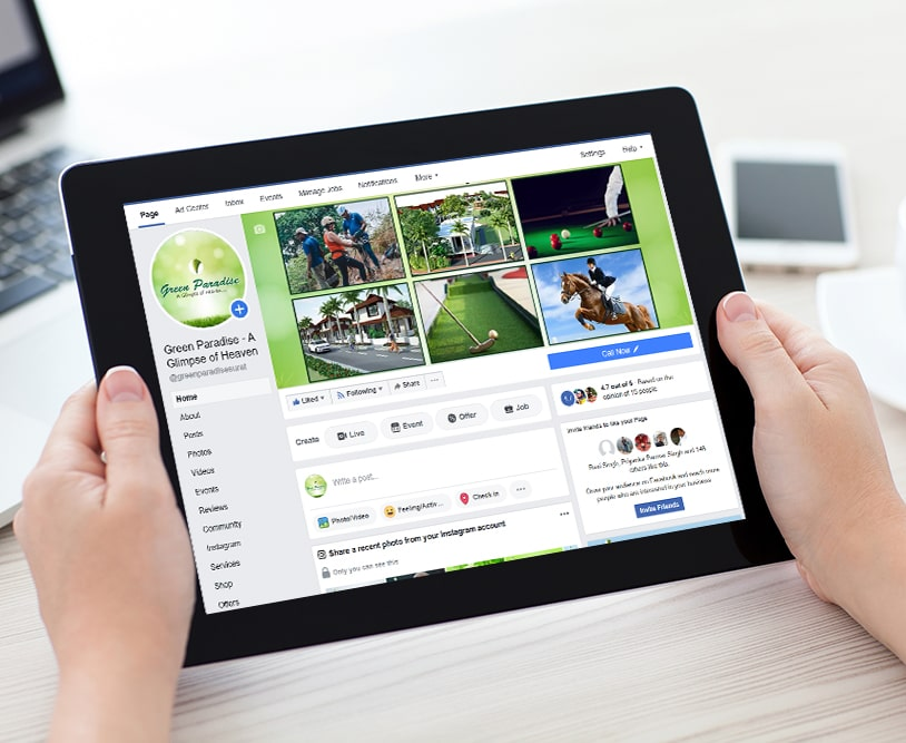 Green Paradise | Work Social Media Marketing | Good Old Geek