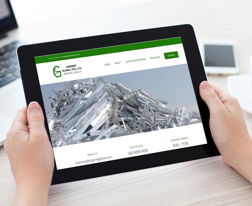 Singmet Global | Work Website Development | Good Old Geek